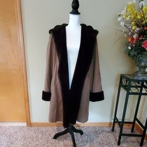 Utex Design Faux Suede and Fauxfur lined Winter Co